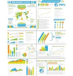 INFOGRAPHIC DEMOGRAPHICS POPULATION SPECIAL vector image