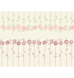 Seamless floral pattern with abstract roses vector image vector image