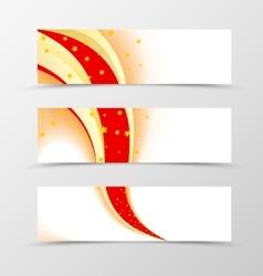 Set of banner star design vector image