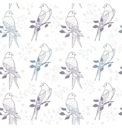 swallows seamless pattern vector image
