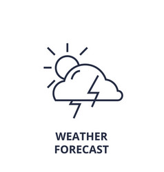 weather forecast line icon outline sign linear vector image