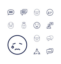 13 chat icons vector