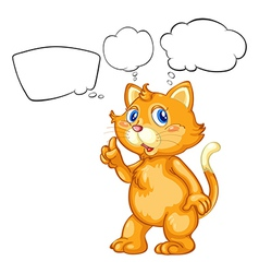A cat with empty callouts vector image