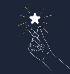 A hand gesture the click thumb vector