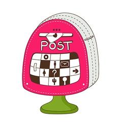 A post box vector