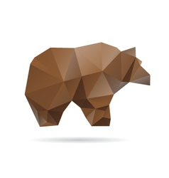 Abstract bear isolated on a white background vector