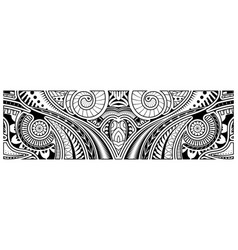 Abstract tribal art tattoo polynesian border vector