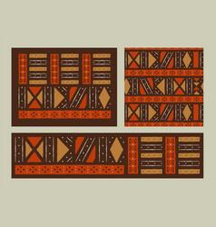 africa tribal art ethnic background set isolated vector image