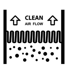 air filter effect symbol vector image