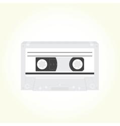 Audio cassette isolated vector