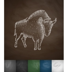 aurochs icon vector image