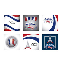 bastille day and france design vector image
