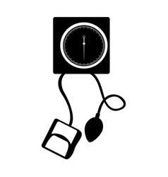 Black icon blood plessure apparatus cartoon vector