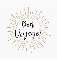 Bon voyage gold glitter background vector