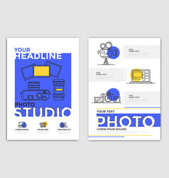brochure design template - photography vector image