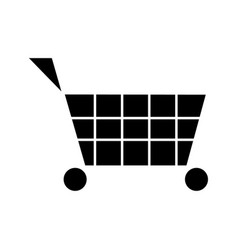 cart shopping icon sign o vector image