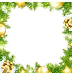 Christmas Background With Border vector image