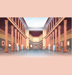 Classic historic museum art gallery hall vector