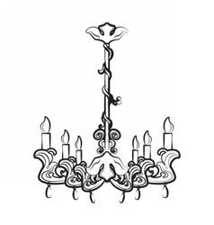 Classic luxury style lamp vector