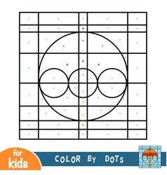 color dots game for children umbrella vector image