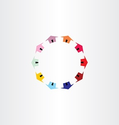 colorfull houses circle logotype vector image