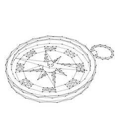 Compass for navigation and orientation to the vector