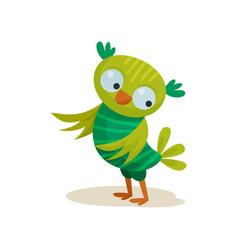 cute owlet sweet colorful owl bird cartoon vector image