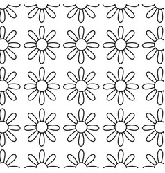 Figure cute flower with petals icon background vector