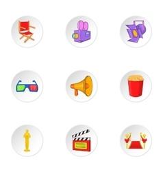 Film icons set cartoon style vector image