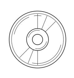 film reel line icon vector image