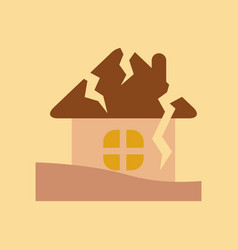 Flat icon on stylish background house crash vector