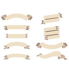 flat ribbons set vector image