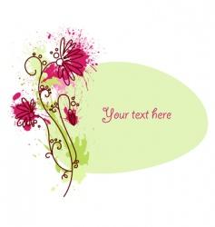 flower vignette vector image