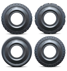 Forklift tractor tire vector
