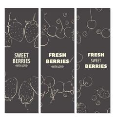 Fresh fruit cards vector