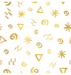 geometric doodle shapes circle stars triangle vector image