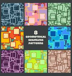 geometrical seamless patterns vector image