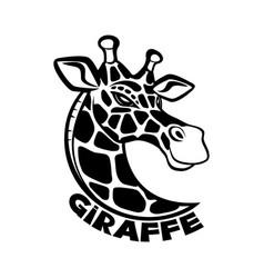 giraffe black sign vector image