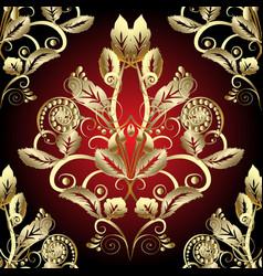 Gold baroque 3d seamless pattern vector