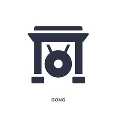 Gong icon on white background simple element from vector