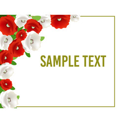 Greeting or invitation card with flowers for vector