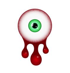 Halloween blood eyeball vector