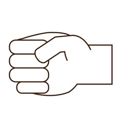 hand with clenched fis vector image