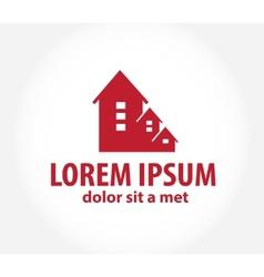 House abstract real estate countryside logo design vector image