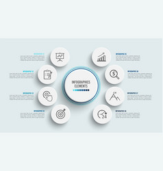 Infographic template with 3d paper label vector