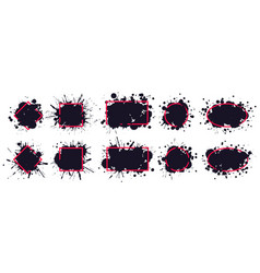 ink splatter frame dirty brush splatted stains vector image