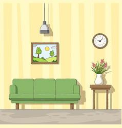 Interior a living room vector