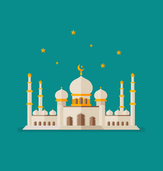 islamic mosque vector image