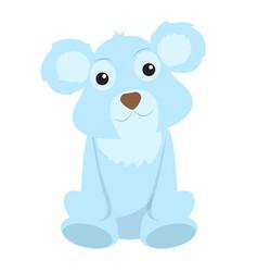 isolated stuffed polar bear toy vector image