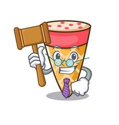 Judge ice cream tone mascot cartoon vector